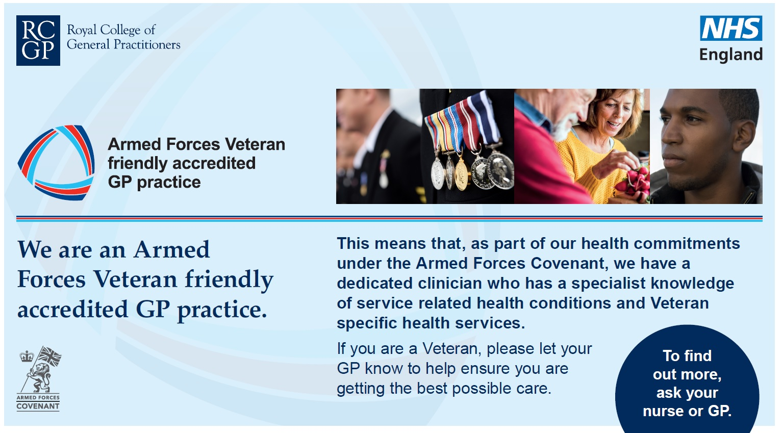 armed forces accredited practice